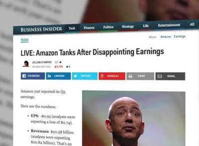 News video: Amazon's Q3 Earnings Lower Than Expected